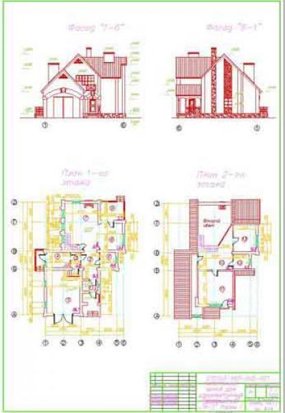 Чертежи 1этажных домов